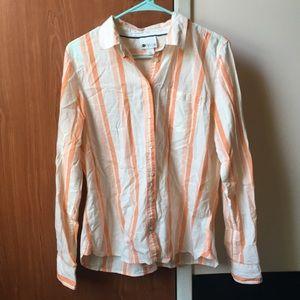 Orange & White Striped Flannel